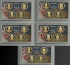 NICE LOT OF FIVE COLLECTION 2009 PROOF PRESIDENT DOLLARS 20 TOTAL PROOF COINS