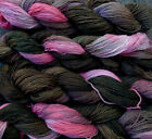 Pure wool yarn Fingering weight,  hand dyed ash gray and pink
