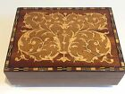 VINTAGE SORRENTO WARE MARQUETRY MUSICAL CIGARETTE JEWELLERY BOX