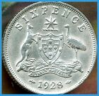 1928 Australian 6 Pence  EXTREMELY RARE Lusterous XF   Special BUY PRICE $125!!