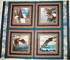 EAGLE FABRIC PILLOW Panel Wild Wings fabric 4 pillow WINGS OF GLORY BTY  NEW