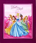 DISNEY PRINCESS FABRIC PANEL MY BALL MY STYLE WALL HANGING QUILT TOP BRAND NEW