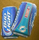 BUD LIGHT cardboard SIGN NFL KICKOFF 2014 MIAMI DOLPHINS TWO SIDED BEER CANS