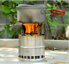 Portable Outdoor Camping Wood Stove Multi-Fuels Alcohol Stove BBQ Stove