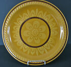 Suzuka Stone Dinner Plate Mosaic Brown 2503 Japan Pottery Vintage Retro Flower