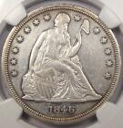 1846 Seated Liberty Silver Dollar $1 - NGC AU Details - Rare Early Date Coin