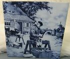 ROYAL MOSA HOLLAND ART TILE-SHOEMAKER SCENE