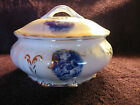 Victorian Smith Phillips Fenix Covered Soap Dish Cupids Blue & White Gold Trim