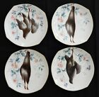 4 Antique O. GUTHERZ Limoges Fowl Bird Plates Late 1800's