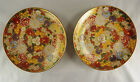 2 VINTAGE JAPANESE MILLEFLEUR-Thousand Flowers-PLATES-MEIJI PERIOD? - SIGNED