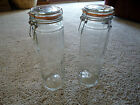 Lot 2 Glass Pasta Jars Air Tight Seal Wire Bale Lock Decorative Storage Kitchen