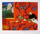 HENRI MATISSE THE RED ROOM Estate Signed  Stamped Limited Edition Giclee Art