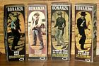 AMERICAN CHARACTER  BONANZA FIGURE OUTLAW  BEN  LITTLE JOE  HOSS custom boxes