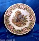QUEEN'S MYOTT FACTORY THANKSGIVING ~ SIDE / SALAD PLATES SET OF 4 NEW IN BOX
