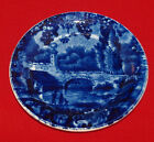 ANTIQUE HISTORIC BLUE AND WHITE STAFFORDSHIRE CUP PLATE BRIDGE ENOCH WOOD FRENCH