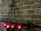 Dramatic Gothic Black Wall Sconce w Chains Candelabra Candle Holder Chandelier