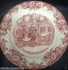 JOHNSON BROTHERS COACHING SCENES PINK SALAD PLATE 7 7/8