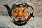 VTG OLD JAPANESE  CERAMIC FIGURAL PIRATE  FACE HEAD TOBY MUG TEAPOT