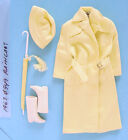 1963 BARBIE #949 RAINCOAT SET w GREAT COLOR!
