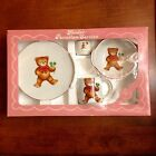 REUTTER W. GERMANY CHILD'S DINNER SET TEDDY BEAR PLATE/BOWL/MUG-CUP VINTAGE 60s