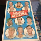 1969 Topps Baseball Oakland A's Team Poster See Pics For Condition Small Hole...