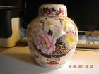 Mason's Antique/Vintage English Ironstone Ginger Jar Floral with Goldleaf, & Lid