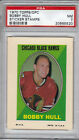 1970-71 TOPPS OPC STICKER STAMPS BOBBY HULL PSA GRADED NM 7 CHICAGO