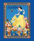 SNOW WHITE & THE SEVEN DWARFS FABRIC PANEL WALLHANGING DISNEY QUILT TOP NEW