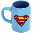 NEW DC Comics Superman Logo Ceramic Stein - Man Of Steel Superhero Giant Cup