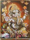 Divine Blessing Lord Ganesha Hindu God Poster with Glitter 16