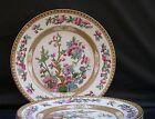 "Lot 3 VTG English Staffordshire Hancock Indian Tree Polychrome 8"" Lunch Plates"