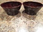 Lot 2 Vintage Western Brownware Old Monmouth Pottery Stoneware Brown 5.5