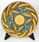 Decorative Blue Gold Hanging Plate Italy Unmarked 9