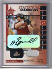 2001 Leaf Rookies & Stars Jeff Bagwell Statistical Standouts Auto Game Used Base