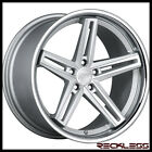 20 CONCEPT ONE CS55 SILVER STAGGERED CONCAVE WHEELS RIMS FITS AUDI A8 S8