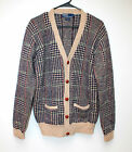 Men's POLO by RALPH LAUREN Brown Plaid Wool Sweater  Sz. Med