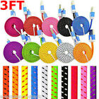 10x Rapid Charge Braided Micro USB Cable Fast Cord For Galaxy S7 S6 S5 S4 Note 4