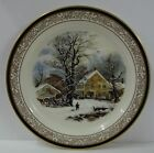IVES 1987 Annual Plate WINTER IN THE COUNTRY COLD MORNING