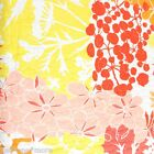 TROPICAL FLORAL KING QUILT 3pc SET PINK ORANGE YELLOW WHITE CORAL NICOLE MILLER