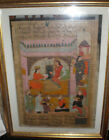 Islamic Miniature Bahram Shah 19th century Indo - Persian Antique