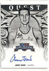 2013 2014 PANINI CRUSADE JERRY WEST QUEST AUTO SIGNATURE GOLD 11 25