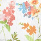 CYNTHIA ROWLEY COTTAGE FLORAL QUEEN QUILT 3pc SET WHITE YELLOW ORANGE BLUE