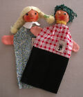 2 Vintage Oreff Wooden Head Hand Puppets Boy & Girl NWT German Dem. Republic #3