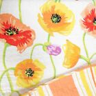 NICOLE MILLER KING QUILT 3pc SET POPPY FLORAL ORANGE YELLOW PINK GREEN STRIPE
