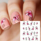 Nail Art Water Decals Transfer Stickers Butterfly & Flower Designed Manicure