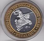 1994 Excalibur Jouster Knight on Horseback .999 Pure Silver Strike Casino Token