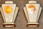 Vintage Salt and Pepper Shakers Ceramic Cream colored with Flowers