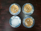 3 Vintage Japan Lusterware Cup & Saucer Sets; Hand Painted w Flowers