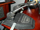 Vintage Antique Black  2- Hole Paper Hole Puncher! Cast Iron! ACCO 10X It Works!