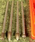 4pc 1 4 x 6 Long Reach CARBIDE BURR SET New grinding with case